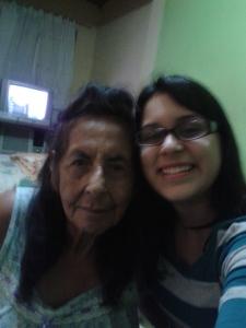 Con mi abuelita Rosa